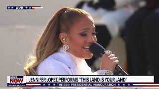 Jennifer Lopez sings 'This Land is Your Land', 'America the Beautiful' | Inauguration Coverage
