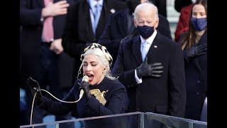 Lady Gaga's EMOTIONAL rendition of the National Anthem at Joe Biden's inauguration
