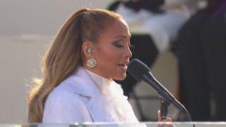 Jennifer Lopez performs at inauguration of Joe Biden, Kamala Harris — January 20, 2021