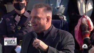Garth Brooks performs 'Amazing Grace' at Joe Biden's inauguration