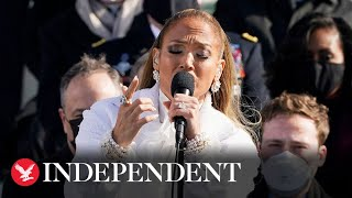 Jennifer Lopez gives moving performance at Biden's inauguration