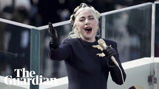 Joe Biden inauguration: Lady Gaga sings the national anthem