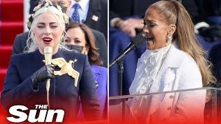 Lady Gaga & JLo sing at President Biden's inauguration