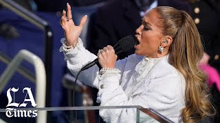 Jennifer Lopez performs at Biden-Harris inauguration
