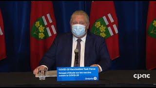 Ontario Premier Doug Ford on COVID-19 vaccine distribution  – January 19, 2021