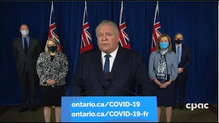 COVID-19 in Ontario: Stay-at-home order to begin Thursday, January 14th; state of emergency declared