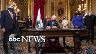 Biden signs 15 executive actions, reversing some Trump policies