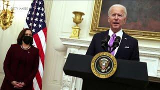 President Biden's first full day in office