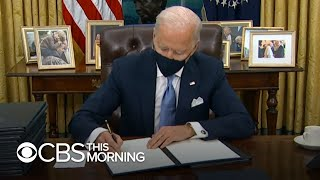 Biden lays out plans for next 100 days during first day in office