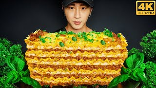 ASMR LASAGNA MUKBANG 먹방 | COOKING & EATING SOUNDS | Zach Choi ASMR