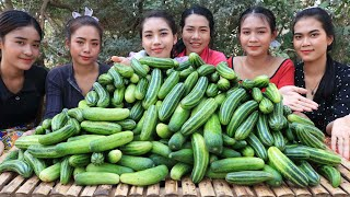 30kg Cucumber salad recipe in my village - Amazing cooking
