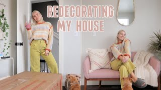 VLOG | redecorating my house for 2021! + cooking with Lindsey