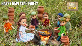 Miniature New Year Party | Happy New Year 2021 | Mini Cooking | Tiny Cooking | Mini Food Cooking