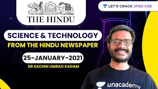Science and Technology from The Hindu Newspaper | 25-January-2021 | Crack UPSC CSE/IAS | Sachin Sir