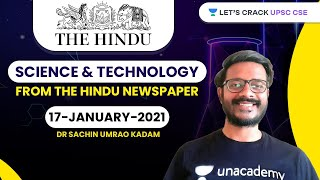 Science and Technology from The Hindu Newspaper | 17-January-2021 | Crack UPSC CSE/IAS | Sachin Sir