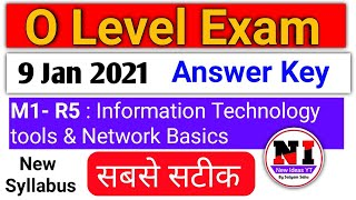 It tools m1 r5 answer key O level January 2021 | information technology tools paper solution january