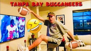 HUSBAND'S REACTION TO TAMPA BAY BUCCANEERS WINNING THE CHAMPIONSHIP FOR SUPER BOWL LV 2021