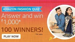 Amazon Fashion Quiz answers 15 January 2021