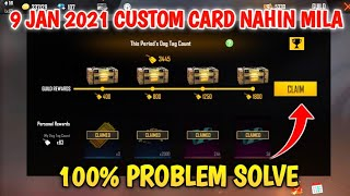 9 JANUARY 2021 CUSTOM CARD CLAIM PROBABLY SOLVE IN FREE FIRE || - Gaming RAMU