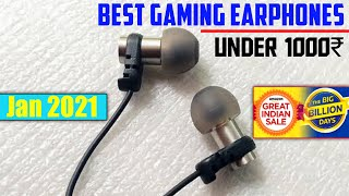 5 Best Gaming Earphones Under 1000 Price | In India | January 2021🔥🔥😍 Flipkart Sale 2021 | Amazon