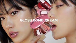 NEW Fenty Beauty Gloss Bomb Cream Swatches | BEST LIPGLOSS?