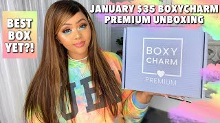 JANUARY $35 PREMIUM UNBOXING & TRY-ON || BEST YET🤩?! || BEAUTY BOX REVIEW