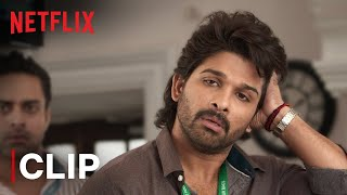 Allu Arjun Police Station Fight Scene | Ala Vaikunthapurramloo | Netflix India