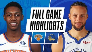 KNICKS at WARRIORS | FULL GAME HIGHLIGHTS | January 21, 2021