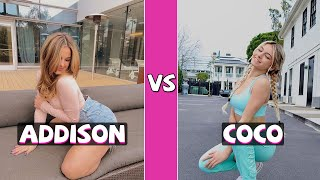 Addison Rae Vs Coco Quinn TikTok Dance Battle (March 2021)