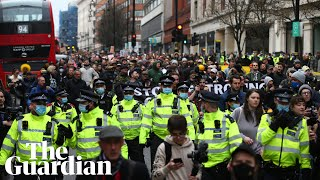Scuffles erupt at anti-lockdown protest in London