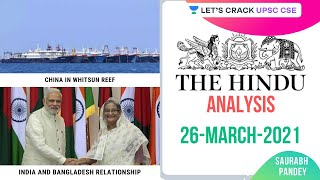 26th March 2021 | The Hindu Newspaper Analysis | Current Affairs | UPSC CSE/IAS 2021
