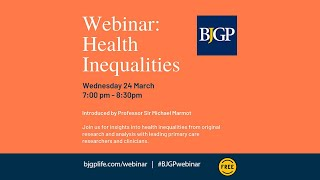 BJGP Webinar on Health Inequalities, 24 March 2021