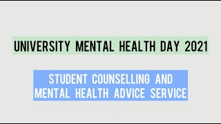 University Mental Health Day - March 4th 2021