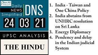THE HINDU Analysis, 24 March 2021 (Daily News Analysis for UPSC) – DNS