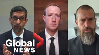 Big Tech CEOs grilled over misinformation, extremism online by US lawmakers | FULL