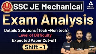SSC JE 2021 Mechanical Exam Review of Today | SSC JE Mechanical Expected Cut-off