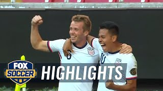 USMNT scored four late goals to get 2nd win in CONCACAF Olympic qualifying | FOX SOCCER HIGHLIGHTS