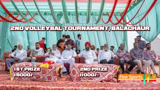 2nd Volleyball Tournament, Balachaur || 27 March 2021 || Fine Sports
