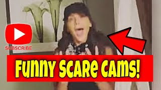 Scare Cam Funny Scaring People Try Not To Laugh Surprise 2021