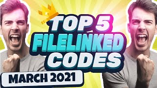 Top 5 Filelinked Codes and Pins March 2021