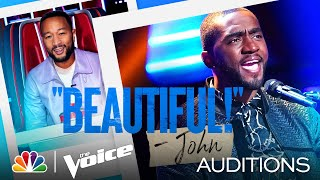 """Durell Anthony's Special Version of Marvin Gaye's """"What's Going On"""" - The Voice Blind Auditions 2021"""
