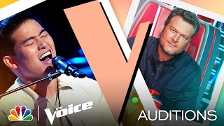 """Keegan Ferrell Shows His Sweet Tone on Maroon 5's """"She Will Be Loved"""" - Voice Blind Auditions 2021"""