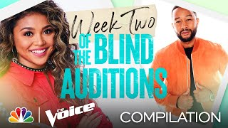 The Best Performances from the Second Week of the Blind Auditions - The Voice 2021