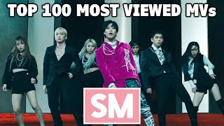 [TOP 100] Most Viewed SM Music Videos (March 2021)