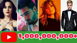 Artists with the most songs above 1 BILLION views on Youtube