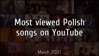 Most Viewed Polish Songs on YouTube - March 2021