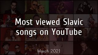 Most viewed Slavic songs on Youtube - March 2021