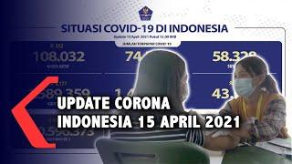 Update Corona Indonesia 15 April 2021, 1.589.359 Positif, 1.438.254 Sembuh, 43.073 Meninggal
