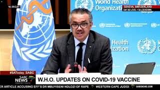 World Health Organisation updates on COVID-19 vaccines: 12 April 2021