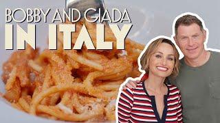 Bobby Flay & Giada De Laurentiis Eat 4 Classic Roman Pastas   Bobby and Giada in Italy   discovery+